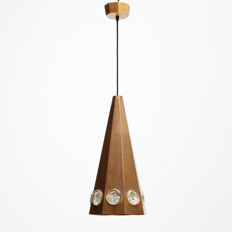 Swedish Brutalist Pendant by Hans Bergström and Erik Hoglund, Sweden For Sale
