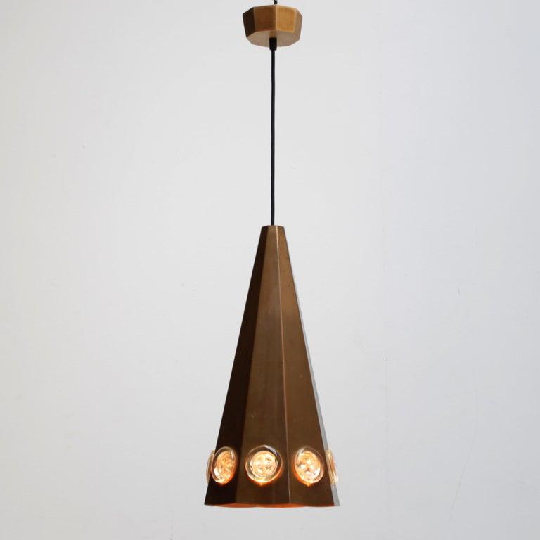 Molded Brutalist Pendant by Hans Bergström and Erik Hoglund, Sweden For Sale