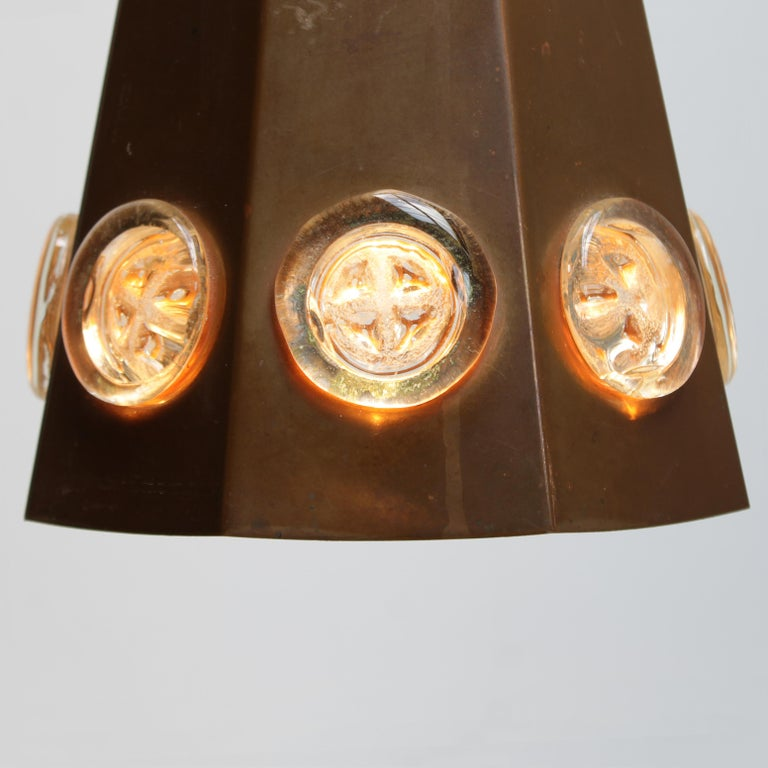 Brutalist Pendant by Hans Bergström and Erik Hoglund, Sweden In Good Condition For Sale In JM Haarlem, NL