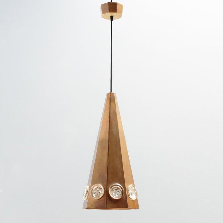 Brutalist Pendant by Hans Bergström and Erik Hoglund, Sweden For Sale 1
