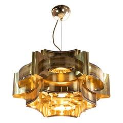 1960 Denmark Holm Soerensen Brutalist Pendant Lamp by Svend Aage