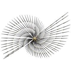 Brutalist Pinwheel Sunburst Sculpture by Ron Schmidt