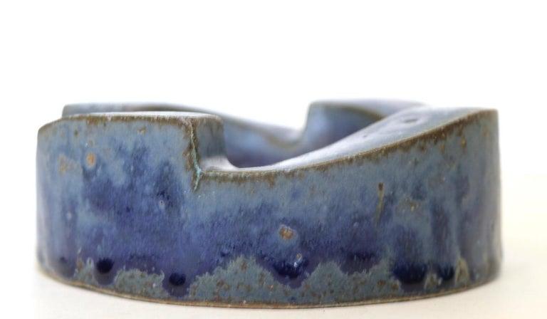 Ceramic Brutalist Pottery Bowl Ashtray by David Gil for Bennington Pottery For Sale