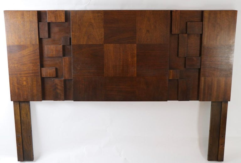 Brutalist School Mosaic Headboard by Lane In Good Condition For Sale In New York, NY