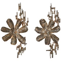 Brutalist Sconces by Salvino Marsura, Italy, 1970s