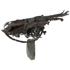 Brutalist Sculpture by Listed Artist George Kafka, 1966