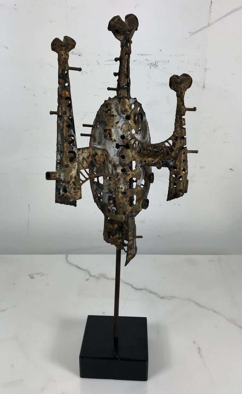 Metal Brutalist Sculpture