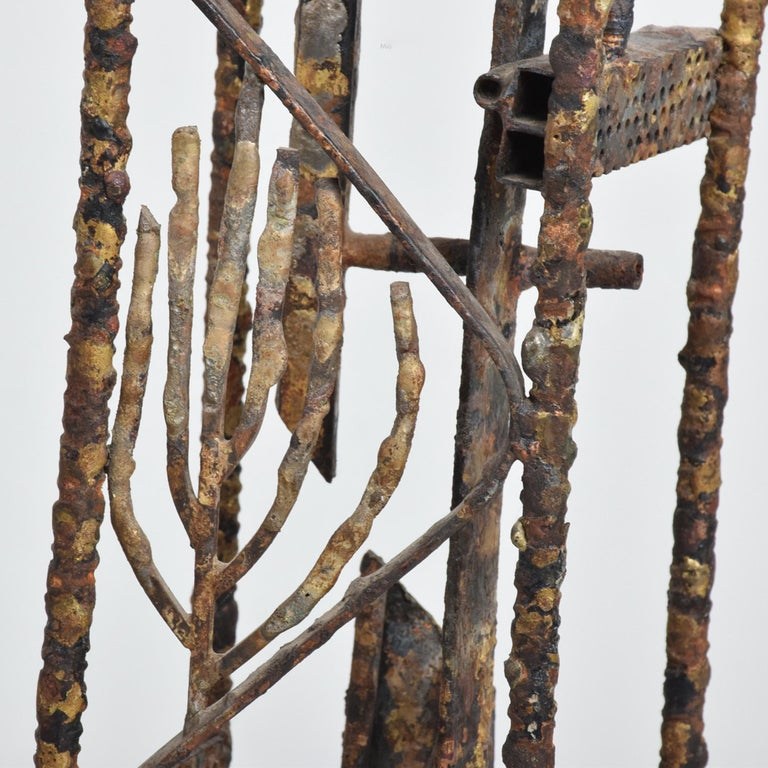 Late 20th Century Brutalist Sculpture Machined Textures Art by Max Finkelstein, 1970s, California For Sale