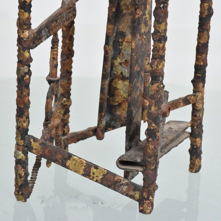 Brass Brutalist Sculpture Machined Textures Art by Max Finkelstein, 1970s, California For Sale