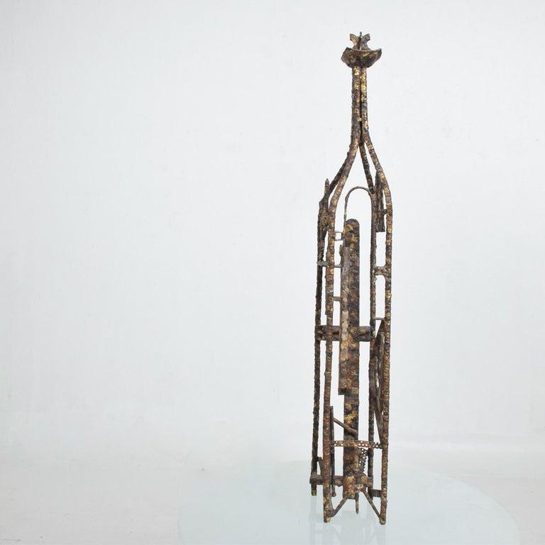 Brutalist Sculpture Machined Textures Art by Max Finkelstein, 1970s, California For Sale 2
