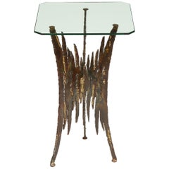 Brutalist Side Table Attributed to Silas Seandel