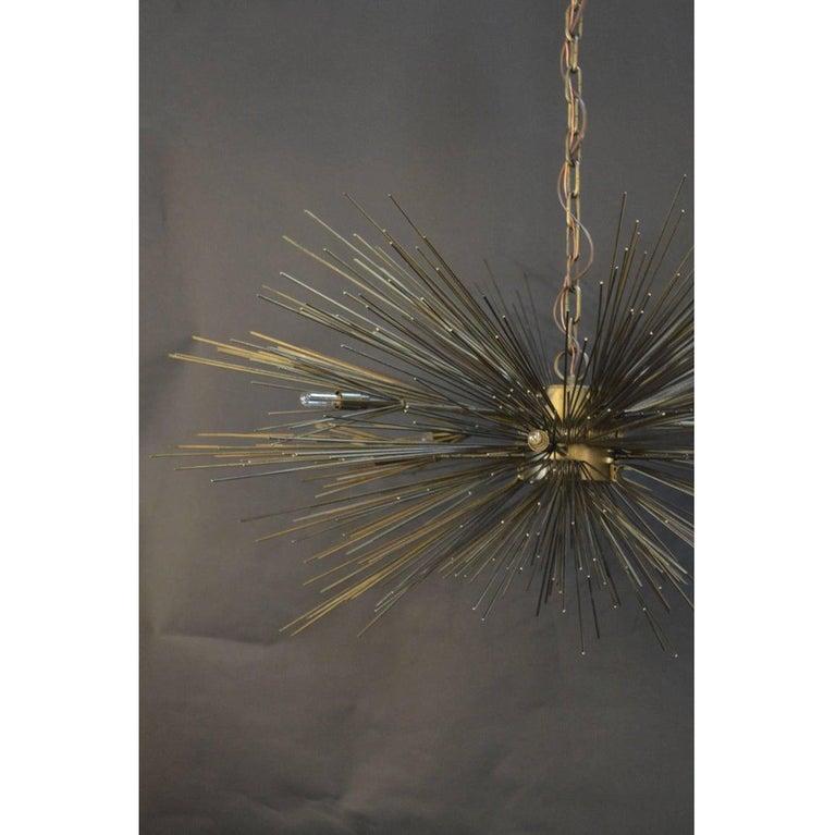 American Brutalist Sputnik Chandelier For Sale