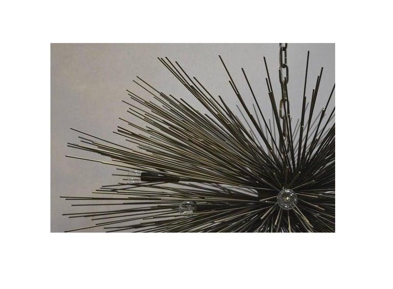 Brutalist Sputnik Chandelier In Good Condition For Sale In Los Angeles, CA