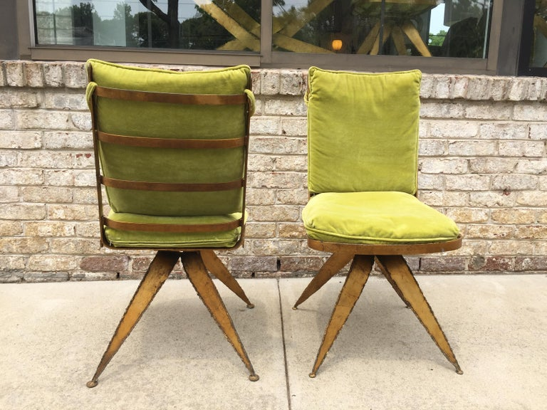 Brutalist Steel Swivel Dining Chairs, Set of 6 For Sale 3