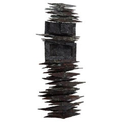 Brutalist Steel Wall Sculpture