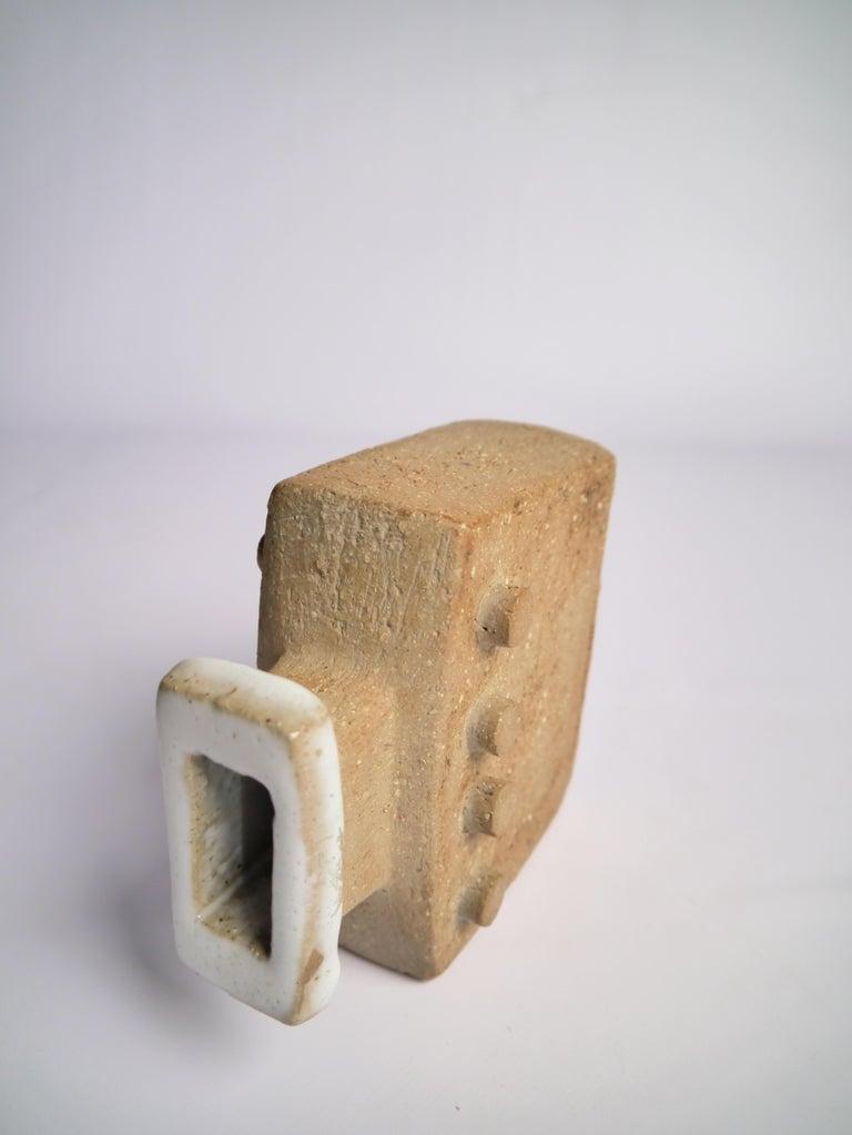 Brutalist Stoneware Vase by Curt Magnus Addin, Sweden, 1970s In Good Condition For Sale In Barcelona, ES