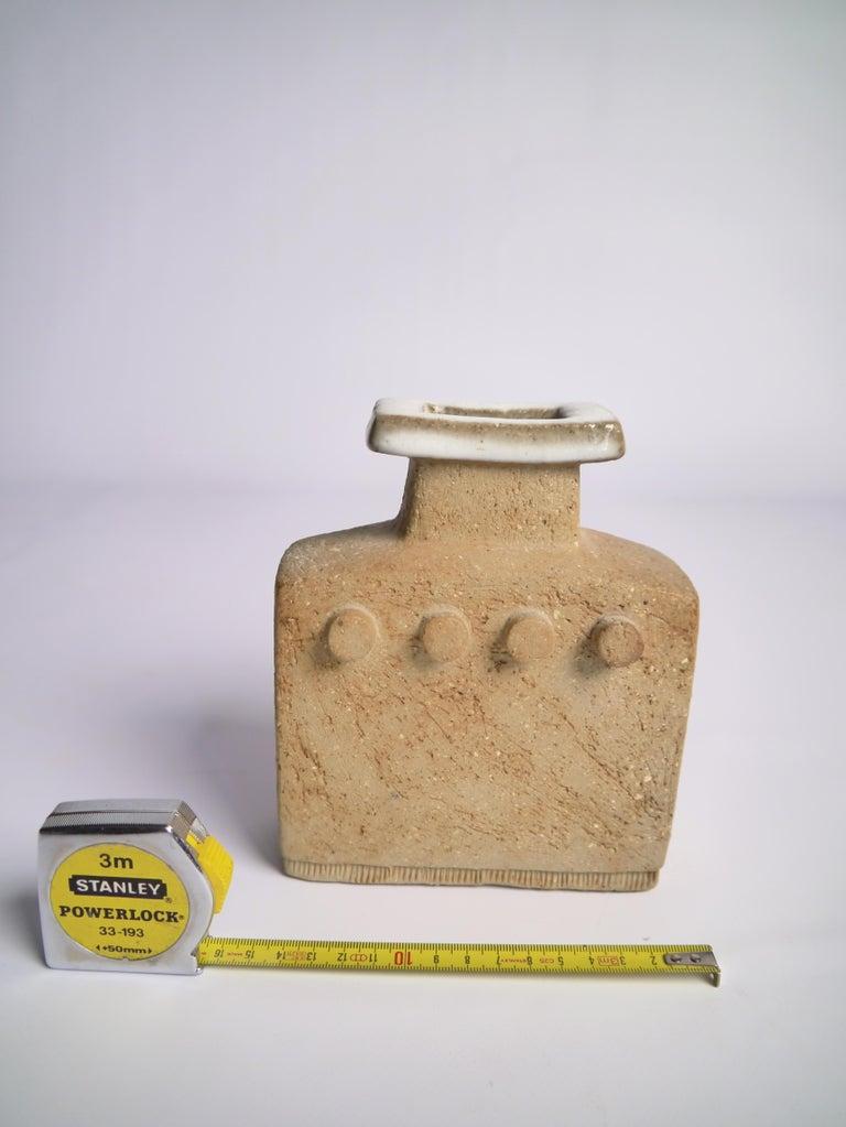 20th Century Brutalist Stoneware Vase by Curt Magnus Addin, Sweden, 1970s For Sale