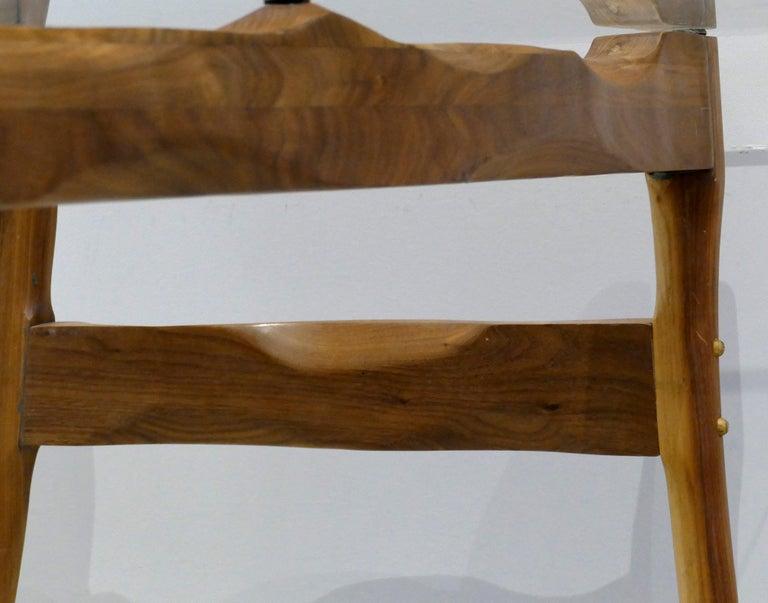 Brutalist Studio Sculptural Bronze and Wood Desk or Table For Sale 6