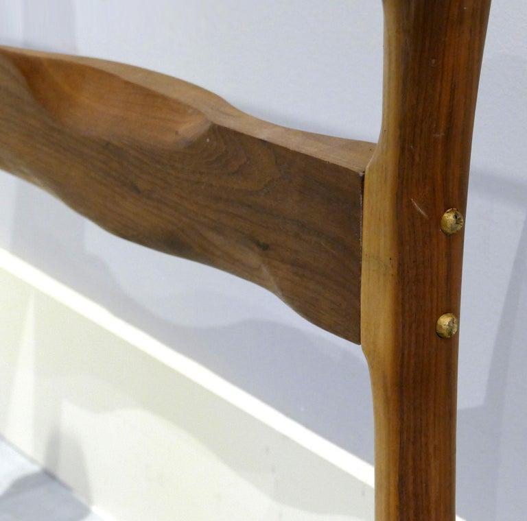 Brutalist Studio Sculptural Bronze and Wood Desk or Table For Sale 7