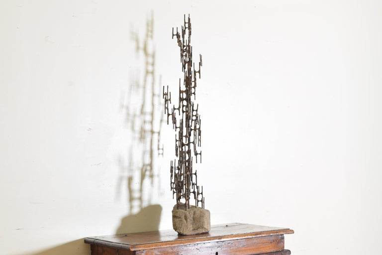 Brutalist Style Bronze Sculpture, Signed P. Marshall In Good Condition For Sale In Atlanta, GA