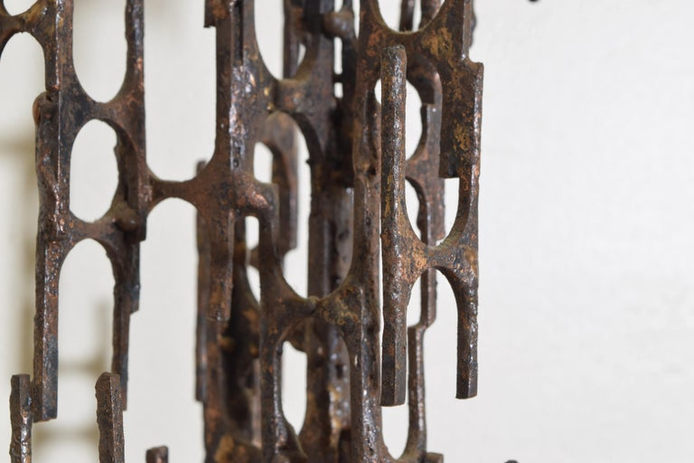 Brutalist Style Bronze Sculpture, Signed P. Marshall For Sale 3