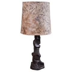 Brutalist Style Ceramic Table Lamp by Jeanine Trottier