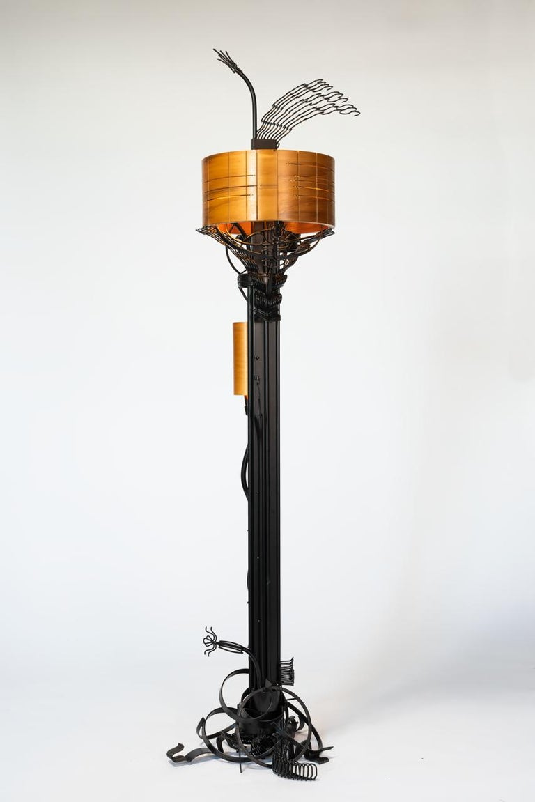 Brutalist Style Floor Lamp by Aswoon In New Condition For Sale In Brooklyn, NY