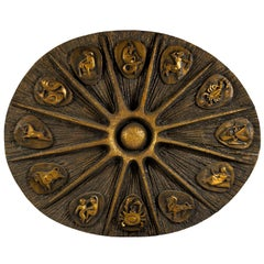 Brutalist Style Zodiac Signs Plaque
