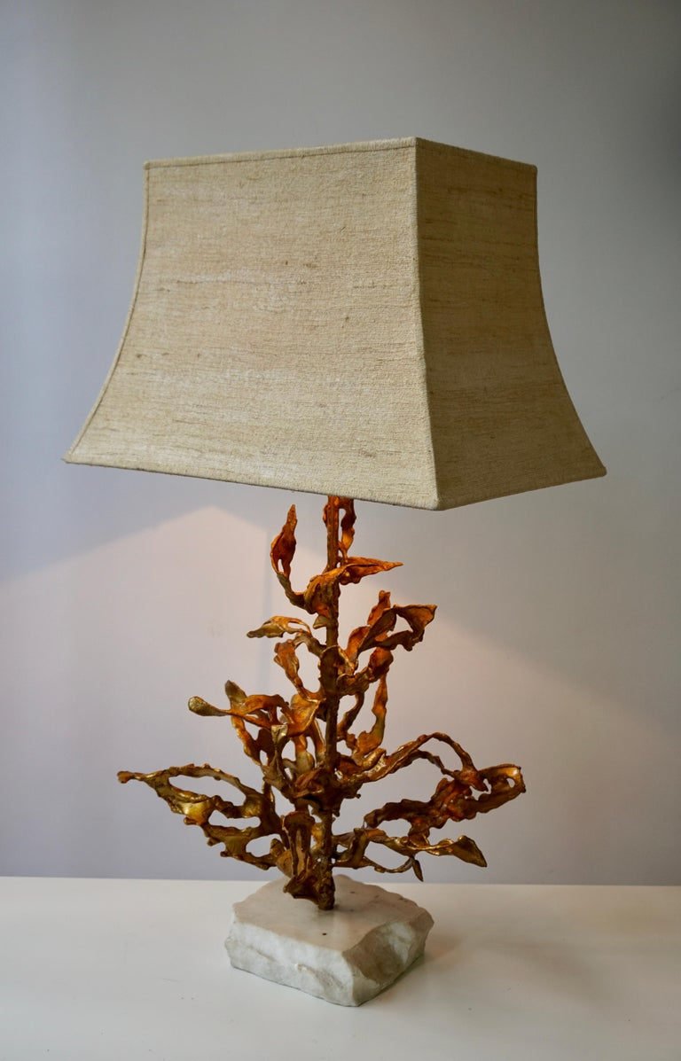 Brutalist Table Lamp in Brass Signed Paul Moerenhout, circa 1970 For Sale 5