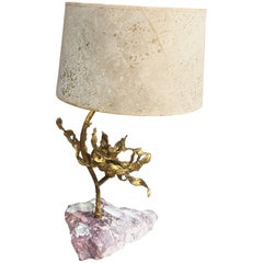 Brutalist Table Lamp in Brass Signed Paul Moerenhout, circa 1970
