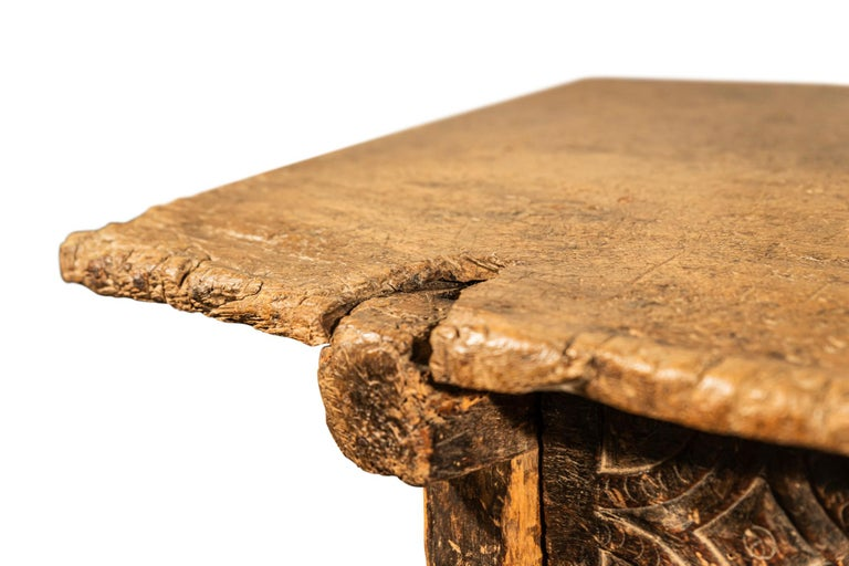 Wood Brutalist Table, Spain, Late 18th Century For Sale