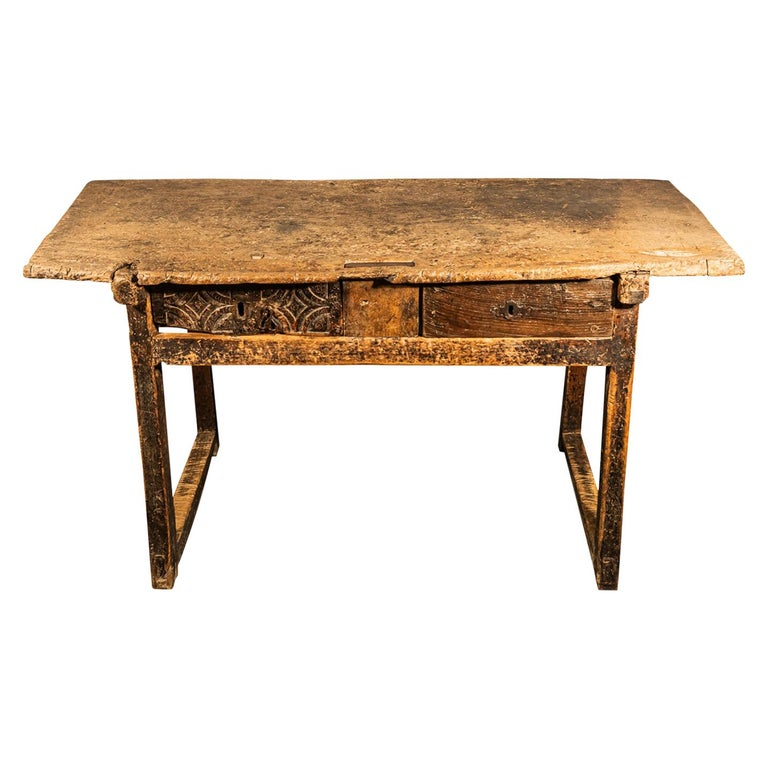 Brutalist Table, Spain, Late 18th Century For Sale