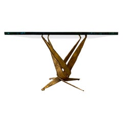 Brutalist Torch Cut Iron Table
