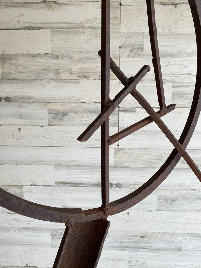 Brutalist Torch Cut Steel Sculpture For Sale 3