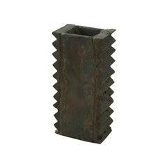 Brutalist Vase Made of Copper, Unique