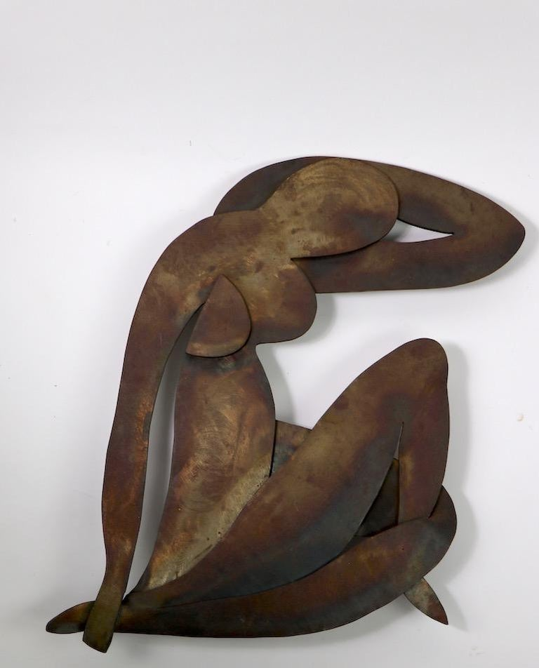 Brutalist Wall Hanging Sculpture after Matisse In Good Condition For Sale In New York, NY