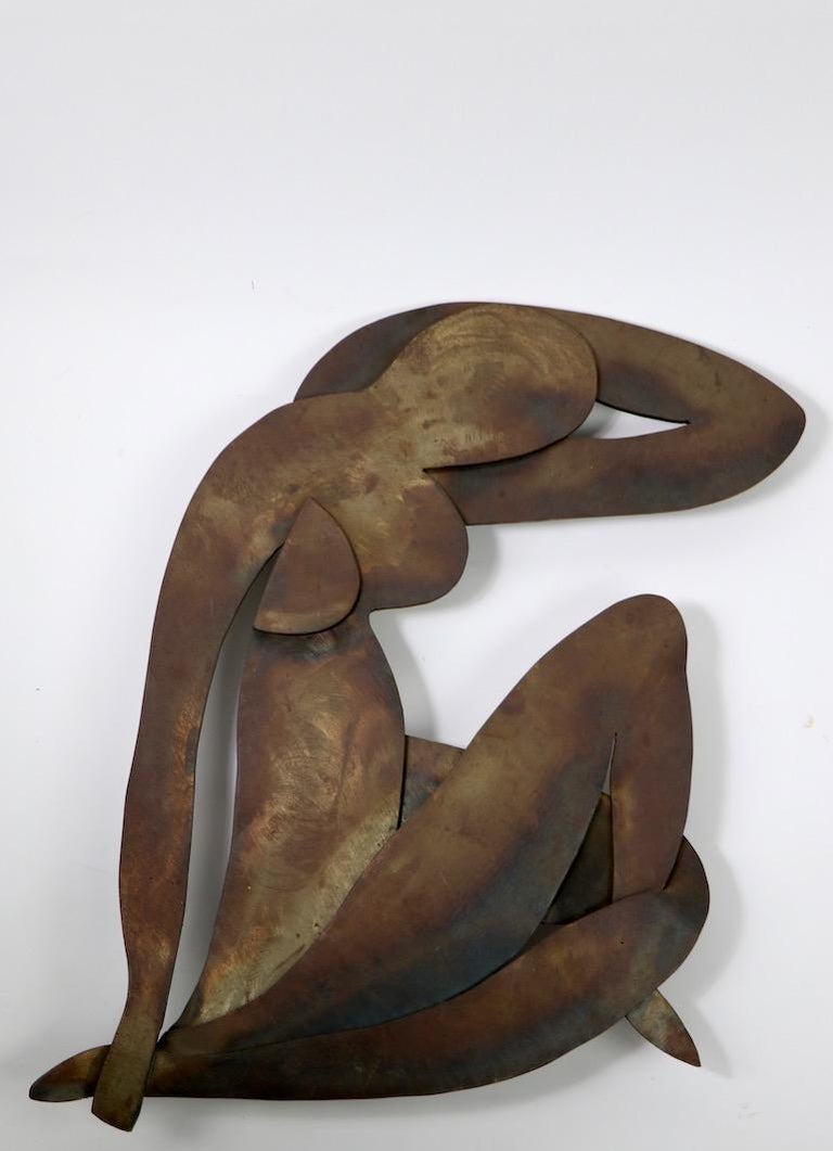 20th Century Brutalist Wall Hanging Sculpture after Matisse For Sale
