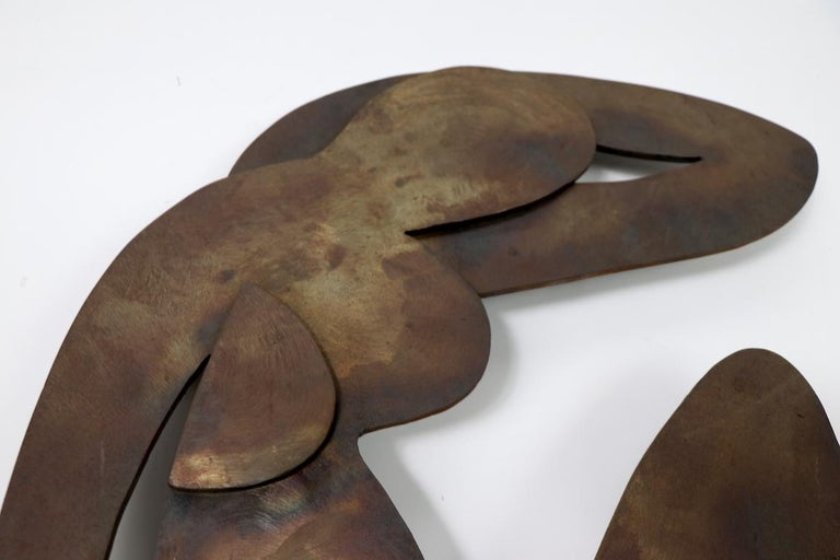 Iron Brutalist Wall Hanging Sculpture after Matisse For Sale