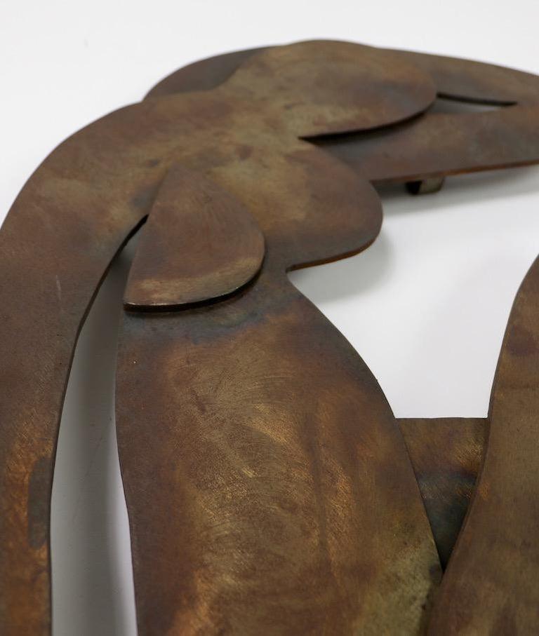 Brutalist Wall Hanging Sculpture after Matisse For Sale 2