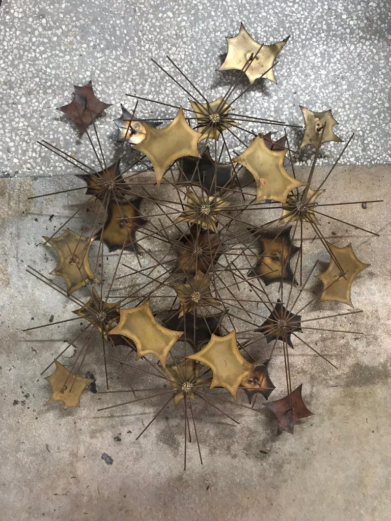 Brutalist Wall Sculpture by Jorge For Sale 4