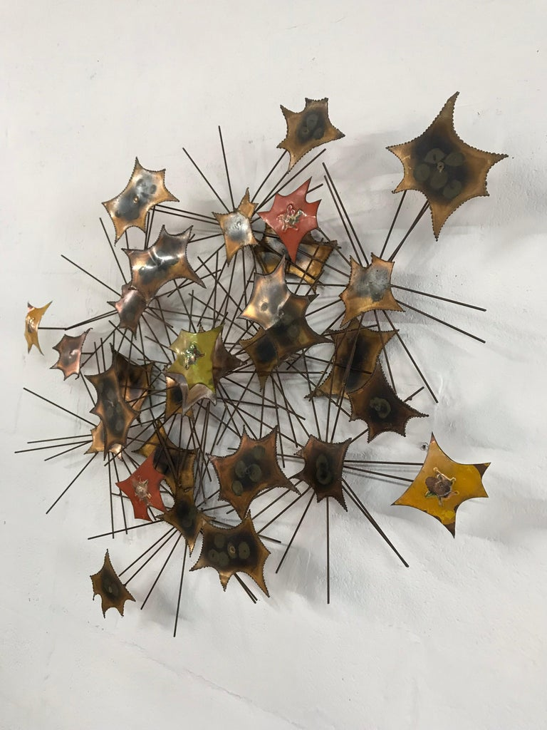Mid-Century Modern Brutalist Wall Sculpture by Jorge For Sale
