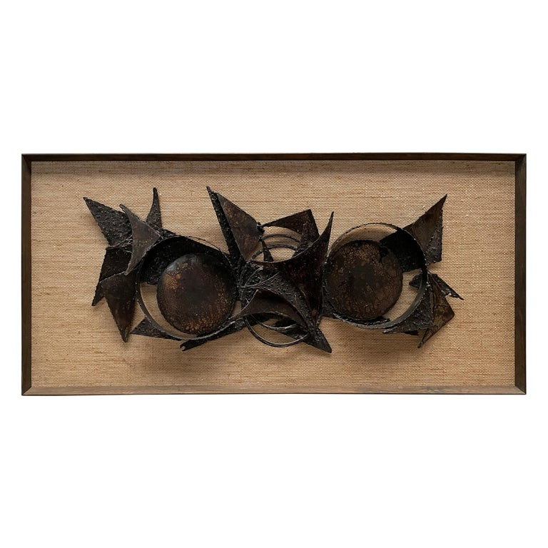 Brutalist Wall Sculpture, Danish Art, 1970s For Sale