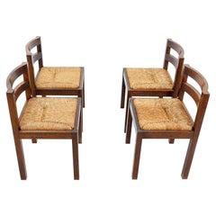 Brutalist Wenge Chairs, 1970s