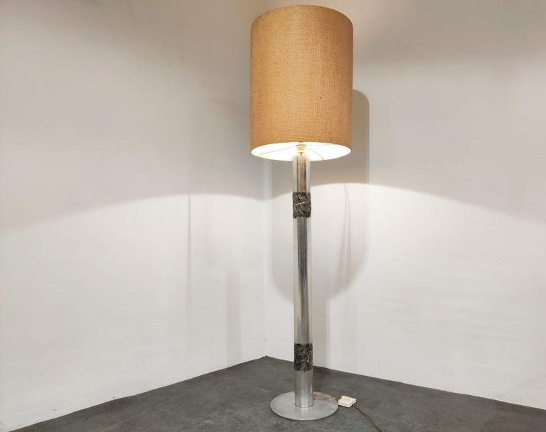 Belgian Brutalist Willy Luyckx Floor Lamp, 1970s For Sale