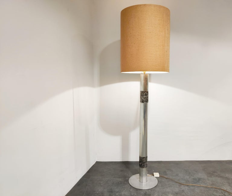 Brutalist Willy Luyckx Floor Lamp, 1970s In Good Condition For Sale In Neervelp, BE