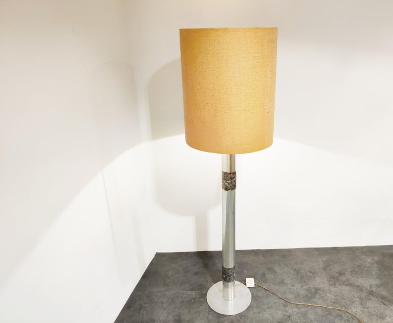 Late 20th Century Brutalist Willy Luyckx Floor Lamp, 1970s For Sale