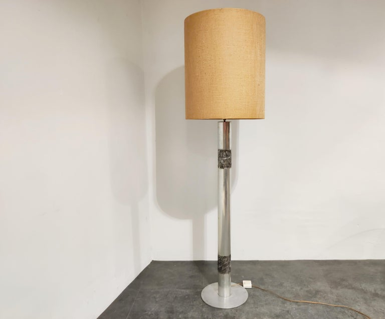 Brutalist Willy Luyckx Floor Lamp, 1970s For Sale 3