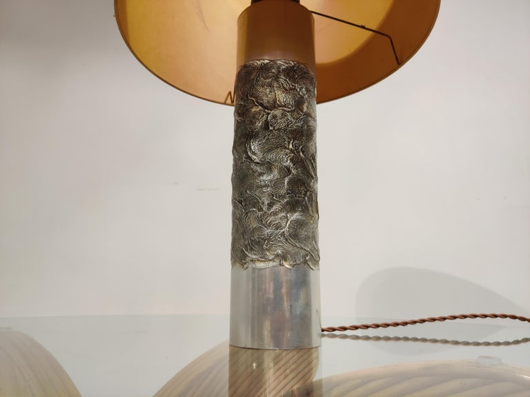 Brutalist Willy Luyckx Table Lamp, 1970s In Good Condition For Sale In Neervelp, BE
