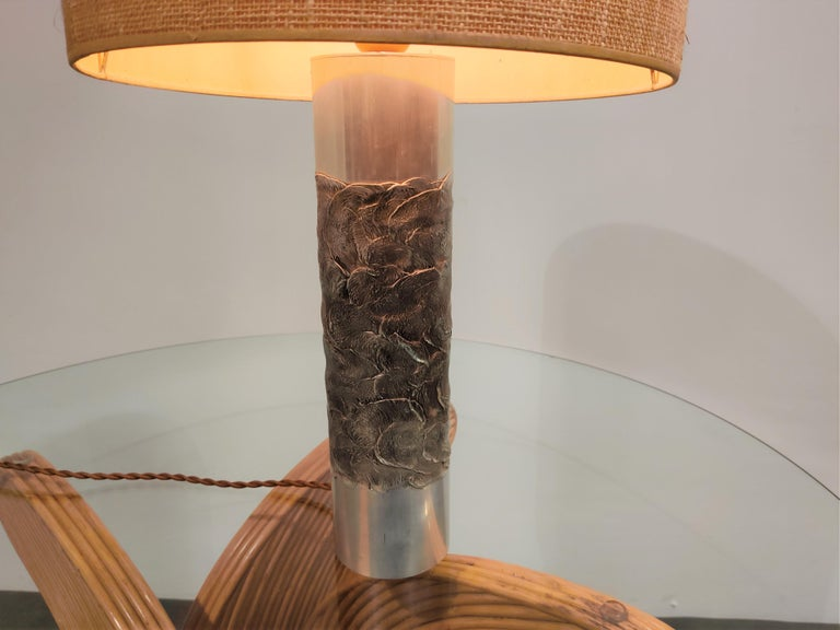 Brutalist Willy Luyckx Table Lamp, 1970s For Sale 3