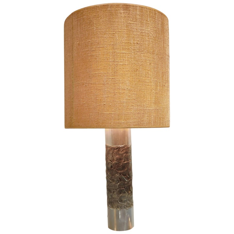 Brutalist Willy Luyckx Table Lamp, 1970s For Sale